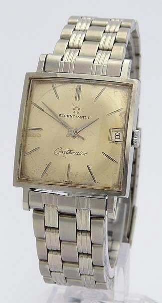 A VINTAGE WRISTWATCH, BY ETERNA MATIC