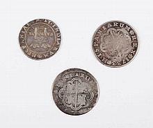 THREE ANTIQUE SPANISH COINS