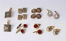 SEVEN PAIRS OF VINTAGE CUFFLINKS