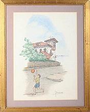 MIGUEL BILBAO BERAZA. Pencil drawing