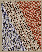 Sonia DELAUNAY (1885-1979)    Projet de tissus ;      Sans titre   Gouache sur papier   26,5 x 21,3 cm à vue   Reproduit dans Composition couleur et idées, planche n°21, éditions Charles Moreau, 1930