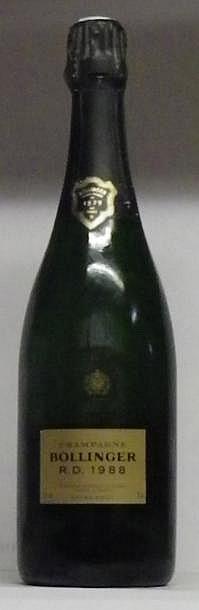 1 BOUTEILLE CHAMPAGNE BOLLINGER R.D. Dégorgée en juin 2000 1988