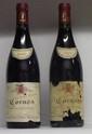 2 Bouteilles CORNAS VIEILLES FONTAINES 1999 - A. VOGE Etiquettes tachées, abîmées. Labels stained and damaged.