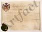CHARLES X (1757-1836). P.S., Paris 22 janvier 1825 ; contresignée par le garde des Sceaux, le comte de PEYRONNET, et par le président du Conseil des ministres, Jean-Baptiste-Joseph de VILLELE ; vélin in-plano (50,5 x 67 cm) avec ARMOIRIES PEINTES,