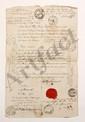 CENT-JOURS. 35 lettres ou pièces autographes ou manuscrites, et 13 imprimés, la plupart de ou adressées au marquis Trophime-Gérard de LALLY-TOLENDAL, 1815 (mouillures).