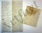 Jeanne Louise Genet, Madame CAMPAN. 2 L.A., [Saint-Germain-en-Laye vers 1798-1799 ?, à Louise de BEAUVAU, princesse de POIX, et à une dame (la maréchale de BEAUVAU ?)] ; 10 pages et demie in-4 ou in-8, une adresse (qqs noms biffés).