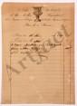 FACTURES. 10 mémoires acquittés, la plupart au nom du marquis de LALLY-TOLENDAL, Paris 1827-1828 ; avec en-tête et qqs VIGNETTES.