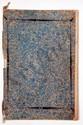Famille de LALLY. MANUSCRIT AVEC ARMOIRIES PEINTES, Genealogy of the house of Lally, [fin XVIIIe s.] ; cahier grand in-fol. de 29 pages (dont 21 illustrées), couverture (un peu fatiguée) de papier marbré, lié d'un ruban blanc.