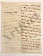 [Michel NEY (1769-1815) maréchal d'Empire]. Trophime-Gérard de LALLY-TOLENDAL. MANUSCRITS et NOTES autographes, 5 lettres à lui adressées, et 12 imprimés, 1815 (mouillures).