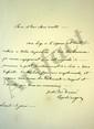 Charles André POZZO DI BORGO (1764-1842) homme politique et diplomate, ennemi de Napoléon, il se mit au service de la Russie. L.A.S., lundi 15 juin [1818 ?], au comte Trophime-Gérard de LALLY-TOLENDAL ; 1 page in-8.