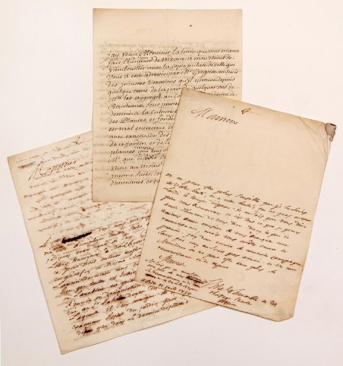 François CHICOYNEAU (1672-1752) médecin, premier médecin du Roi. L.A.S., Versailles 30 juin 1735, à MONTESQUIEU ; 4 pages in-4. [CM 425]