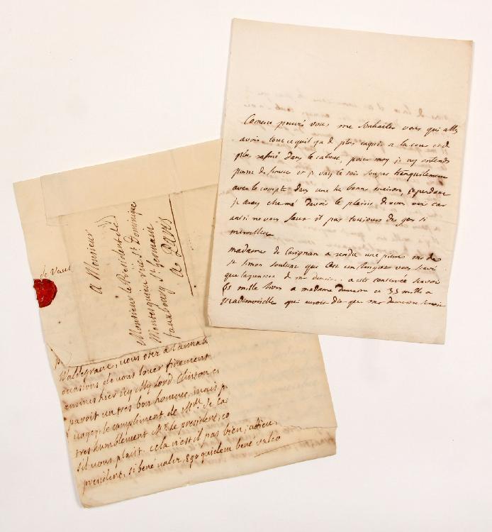 Charles de Secondat, baron de La Brède et de MONTESQUIEU. L.A.S. (minute), Paris 22 mai 1736, [au comte François de BULKELEY] ; 2 pages in-4. [CM 441]