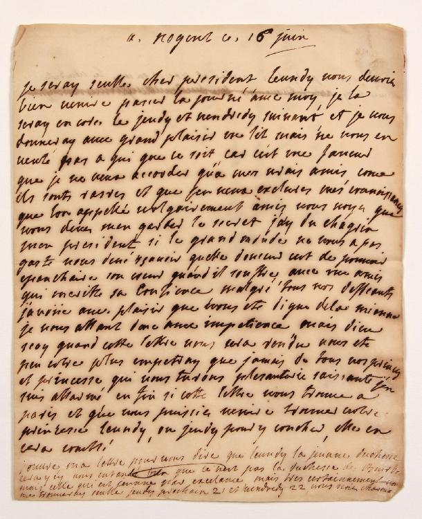 Henriette Fitz-James, comtesse de Clermont d'Amboise, marquise de RENEL (1705-1739) fille du maréchal de Berwick, elle avait épousé Jean-Baptiste-Louis de Clermont d'Amboise, marquis de Renel, et était dame du palais de la Reine. L.A., Nogent 16 juin