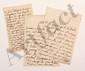 Claudine Guérin de TENCIN (1682-1749) femme de lettres, animatrice d'un salon littéraire influent. 3 L.A., [Paris juillet-août 1736], à MONTESQUIEU à Paris ; 1 page in-8 et 1 page et demie in-8 avec adresses, et 1 page et demie in-12. [CM 455, 458 et