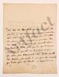 Charles de Secondat, baron de La Brède et de MONTESQUIEU. L.A. (minute), [fin août 1736, au Président Jean BARBOT] ; 1 page et demie in-4 (lég. mouill.). [CM 461]