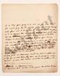 Charles de Secondat, baron de La Brède et de MONTESQUIEU. L.A. (minute), La Brède 28 janvier 1737, [à Madame de TENCIN] ; 1 page in-4, avec ratures et corrections. [CM 463]