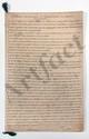 Thomas-Arthur de LALLY-TOLENDAL. MANUSCRIT autographe, Tableau historique de l'expédition de l'Inde, [1766] ; cahier de 27 pages in-fol., lié d'un ruban vert.