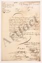 Conseil supérieur de PONDICHERY. 8 L.S. par le président et plusieurs conseillers, Pondichéry 1756, aux syndics et directeurs généraux de la COMPAGNIE DES INDES à Paris ; 76 pages in-fol. (qqs trous de vers), dont 4 cahiers liés d'un ruban bleu.