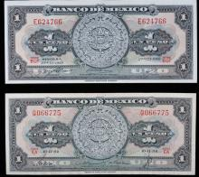 Mexican Pesos Pair 1954 & 1969