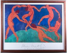 Centre Georges Pompidou Matisse Exhibition Litho