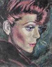 E. Metzger Oil on Panel of