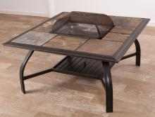 Fire Pit Table, Slate Tile Top