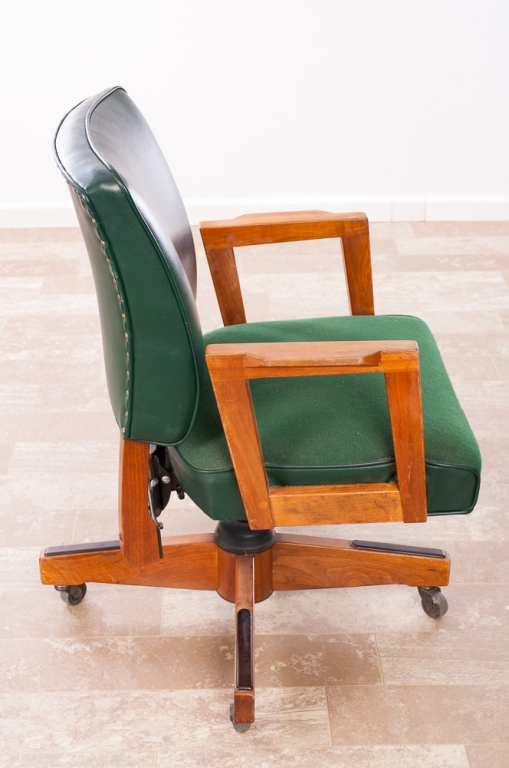 Gunlocke Rolling Office Arm Chair