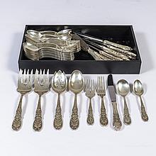 A Sterling Silver Richelieu Pattern Flatware Set