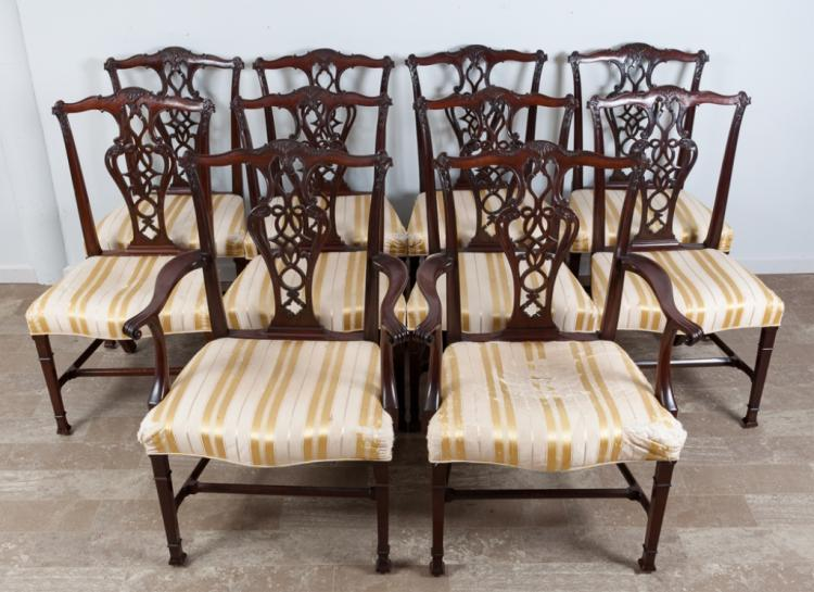 Chippendale Style Mahogany Dining Chairs