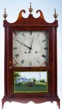 Eli Terry & Sons Pillar & Scroll Shelf Clock