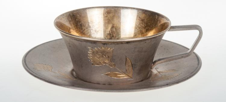 Silver Russian Post Revolution Cup & Silver Set