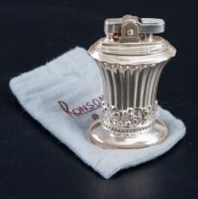 Ronson Silver Plated Newport Lighter