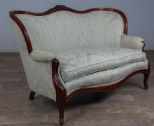 Victorian Style Upholstered Settee