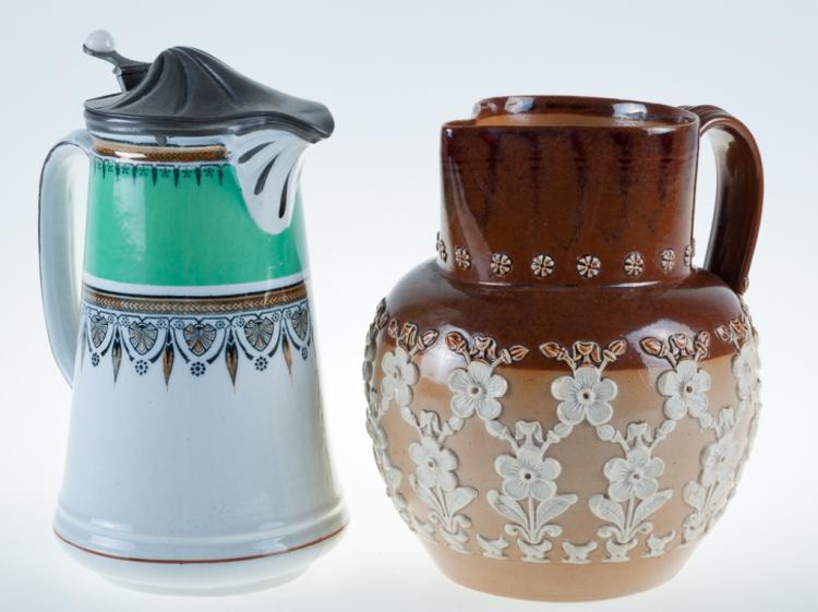 English Pottery Duo, Incl. Doulton Lambeth