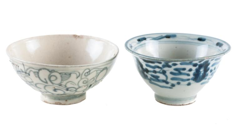 Ming Dynasty Blue & White Bowls Pair