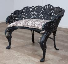 Cast Metal Settee 19th C