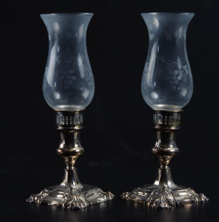 Silver Plated Candlesticks Pair