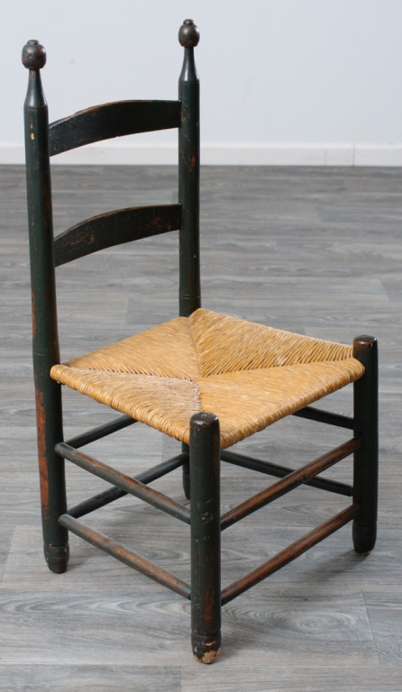 19th Century Low Ladder Back Chair