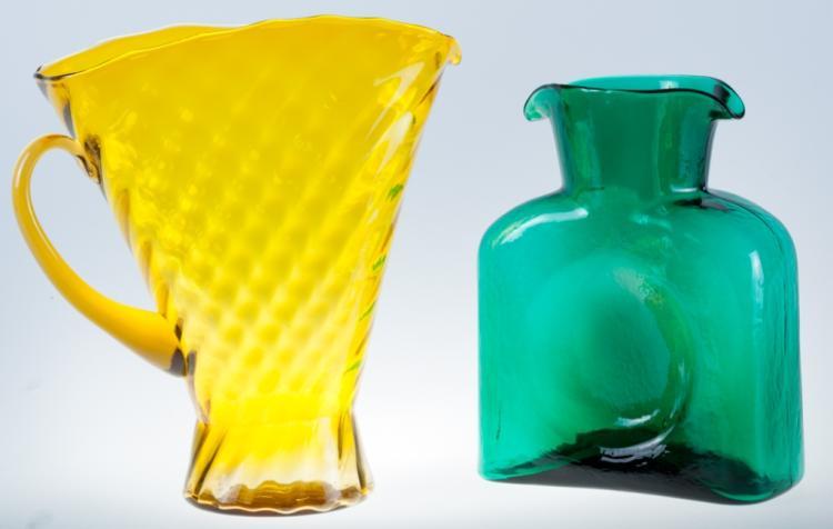 Blenko Carafe Amp Yellow Glass Pitcher