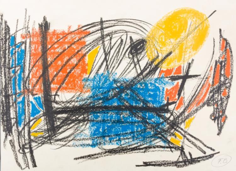 Fritz Bultman Mixed Media Abstract