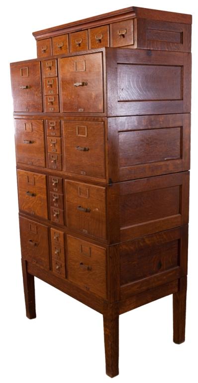 library bureau sole makers tiger oak file cabinet. Black Bedroom Furniture Sets. Home Design Ideas