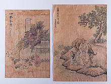 Korean Watercolor Paintings Pair, Circa 1790s