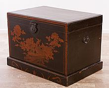Asian Camphor Wood Chest, Lacquered & Painted