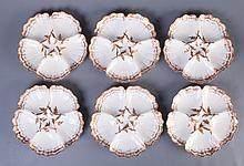 Limoges T & V Handpainted Oyster Plates