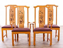 Broyhill Chinoiserie Dining Chairs, Mid-20th C