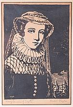 Mabel Pugh Woodblock Print