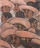 Diego Rivera Men in Sombreros Mural Study, Diego Rivera, $800