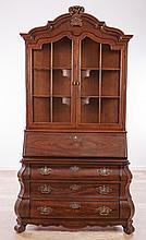 Henredon Secretary/Bookcase of Bombé Form