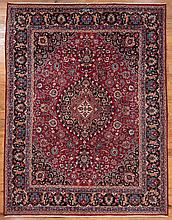 Antique Iranian Mashad 10' x 13' Rug
