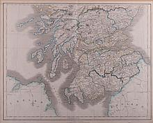 Map of Southern Scotland Print